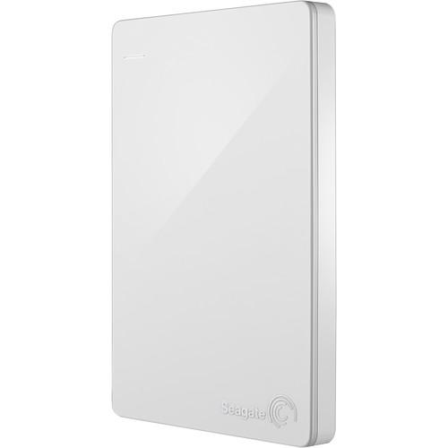 Seagate 2TB Backup Plus Slim Portable External USB 3.0 Hard Drive (White)