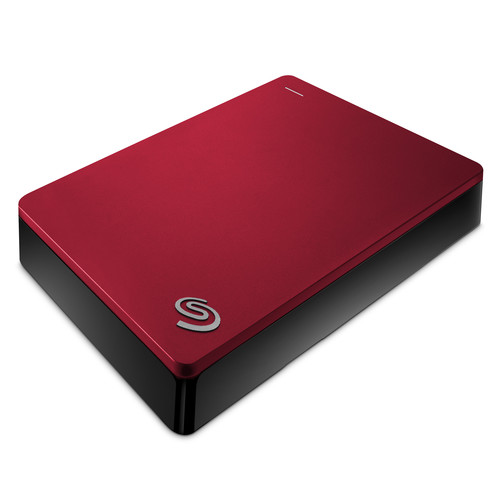 Seagate 4TB Backup Plus Portable Hard Drive (Red)
