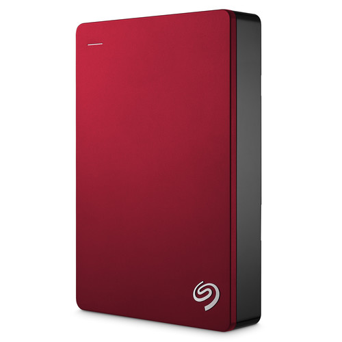 Seagate 5TB Backup Plus Portable Hard Drive (Red)