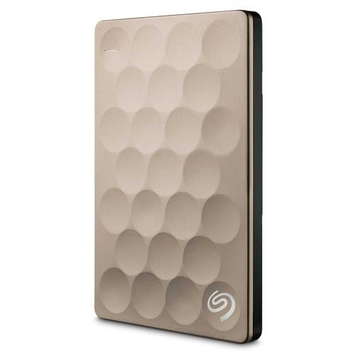 Seagate 1TB Ultra Slim Backup Plus Portable Hard Drive (Gold)