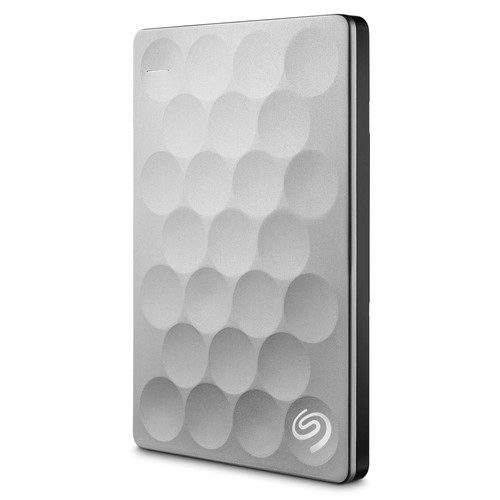 Seagate 2TB Ultra Slim Backup Plus Portable Hard Drive (Platinum)