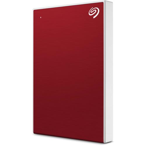 Seagate 2TB Backup Plus Slim USB 3.0 External Hard Drive (Red)