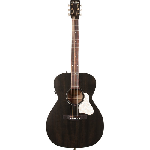 Seagull Guitars A&L Legacy Q1T Concert Hall Acoustic/Electric Guitar (Faded Black)