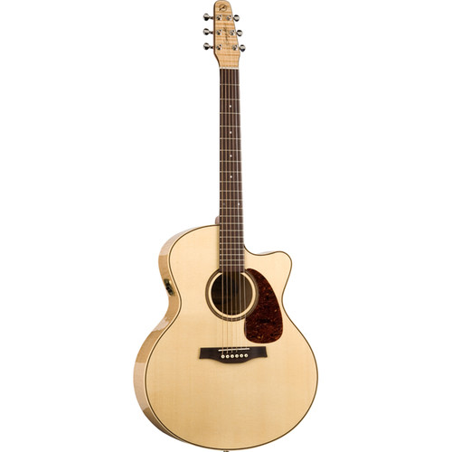 Seagull Guitars Performer CW QI Mini-Jumbo Flamed Maple Acoustic/Electric Guitar (Natural High Gloss)