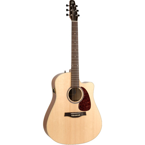 Seagull Guitars Entourage Natural Spruce CW QI Acoustic Guitar (Natural Semi-Gloss)