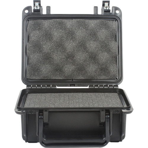 Seahorse 120 Protective Case withFoam andMetal Keyed Locks(Black)