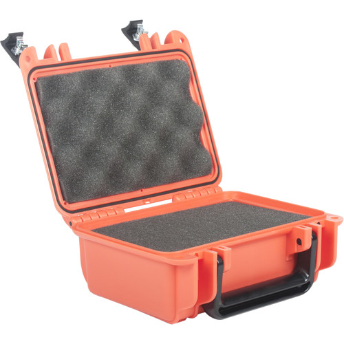Seahorse 120 Protective Case withFoam andMetal Keyed Locks(International Orange)