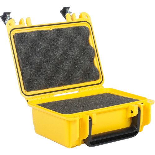 Seahorse 120 Protective Case withFoam andMetal Keyed Locks(Safety Yellow)