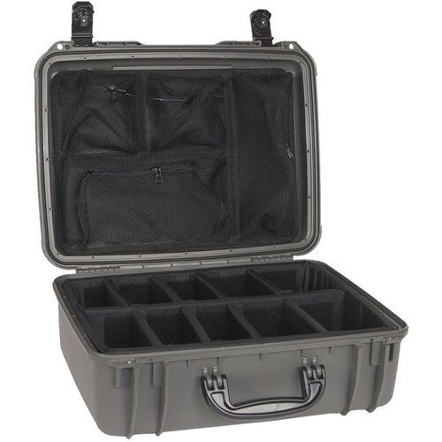 Seahorse 720 Protective Case with Padded Dividers and Mesh Lid Organizer (Gun Metal Gray)