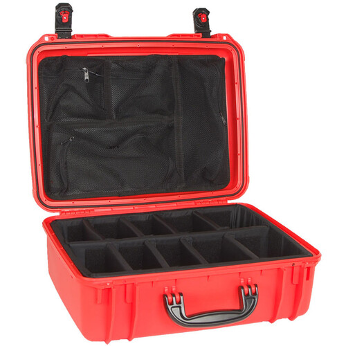 Seahorse 720 Protective Case with Padded Dividers and Mesh Lid Organizer (Orange)