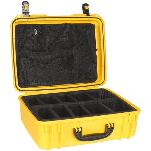 Seahorse 720 Protective Case with Padded Dividers and Mesh Lid Organizer (Yellow)