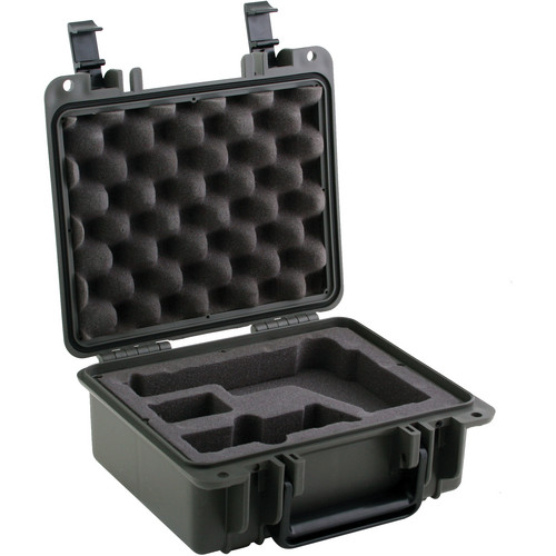Seahorse SE-300 Hurricane Series Handgun Case with 4-Piece Pistol Foam Set (Gunmetal)