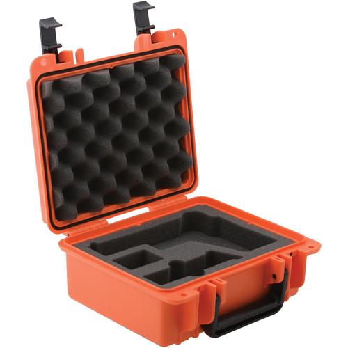 Seahorse SE-300 Hurricane Series Handgun Case with 4-Piece Pistol Foam Set (Orange)