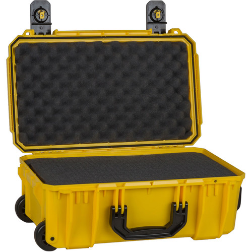 Seahorse SE830 Case with Telescoping Handle with Foam (Safety Yellow)