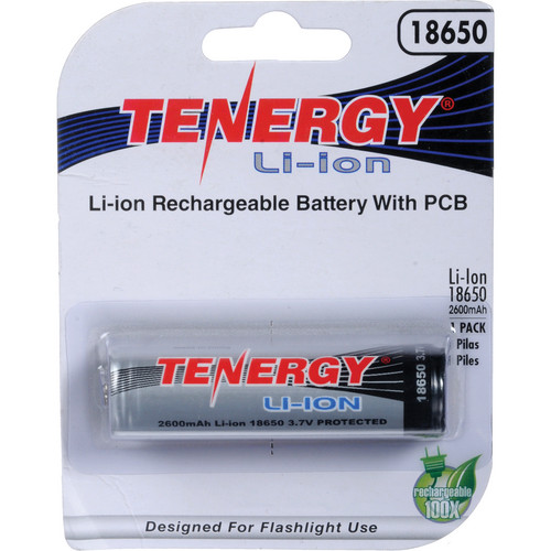 SeaLife Tenergy 18650 Rechargeable Lithium-Ion Battery (3.7V, 2600mAh)