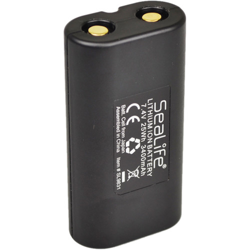 SeaLife SL9831 Rechargeable Lithium-Ion Battery (7.4V, 3400mAh)