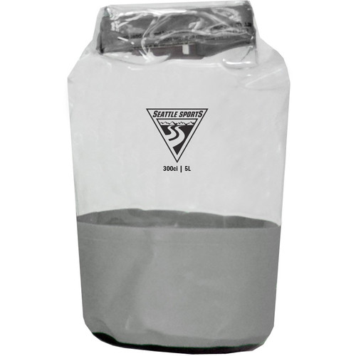 Seattle Sports Glacier Clear Dry Bag (XS, 5L, Gray)