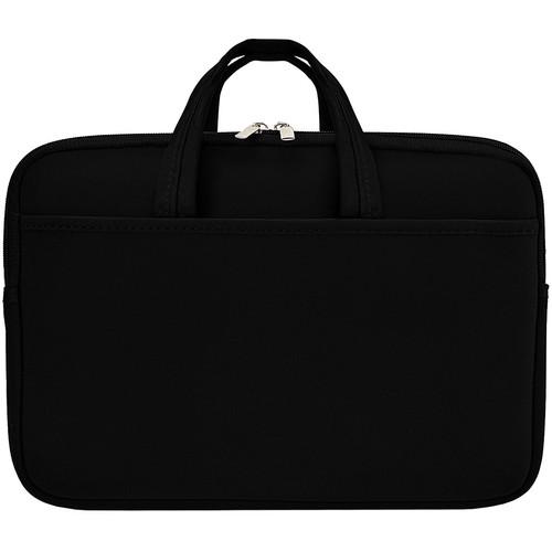 """Second Skin 13.3"""" Macbook Laptop Sleeve with Handles (Black)"""