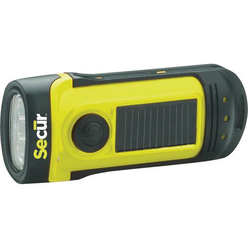Secur Waterproof Solar/Dynamo LED Flashlight