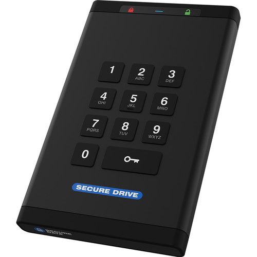 SecureData SecureDrive KP 4TB Encrypted SSD with Keypad Authentication