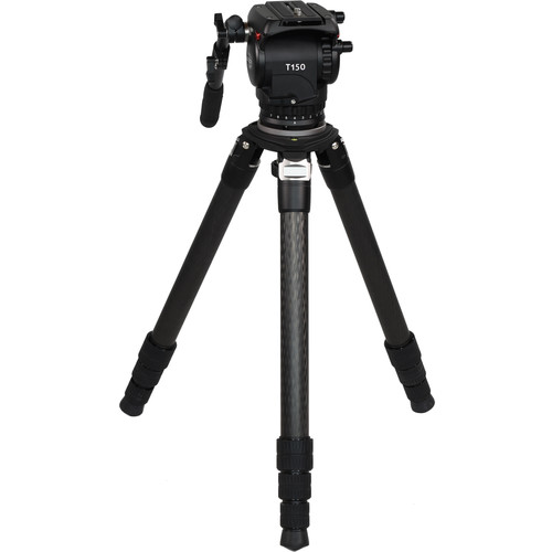 SEEDER T150H Fluid Head with 3-Stage Carbon Fiber Video Tripod System