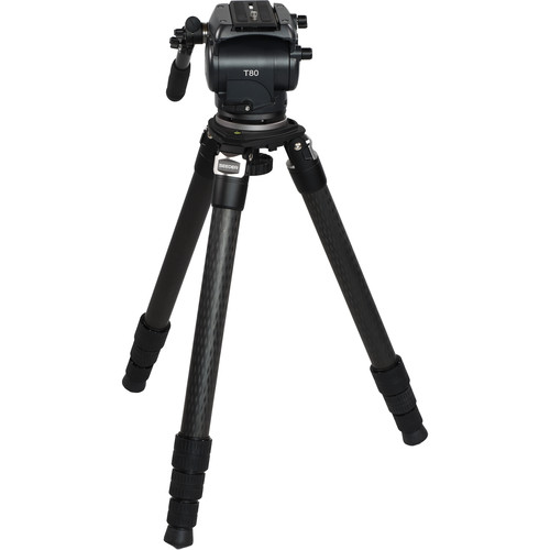 SEEDER T80H Fluid Head with 3-Stage Carbon Fiber Video Tripod System