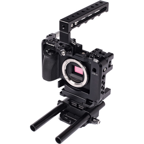 Seercam CUBE 6X Cage for Sony a6300/6500/6000 Cameras with Top Handle and Rod Riser