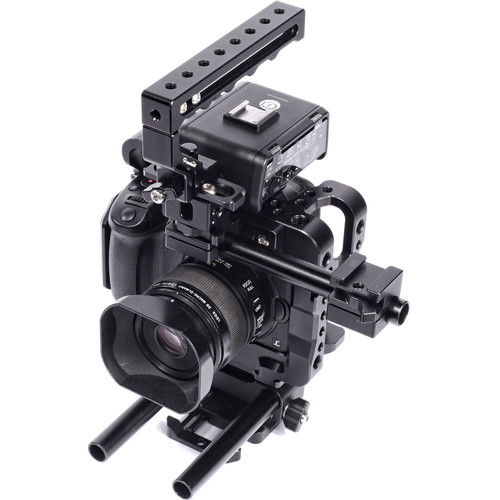 Seercam CUBE Cage for Panasonic GH5 with Top Handle, Rod Riser, and Extension Kit