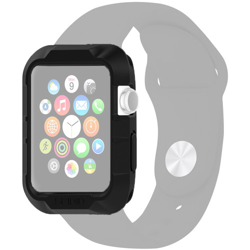 Seidio Tetra Cases for 38mm Apple Watch (Black/Clear)
