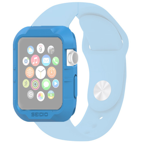 Seidio Tetra Cases for 38mm Apple Watch (Blue/Clear)