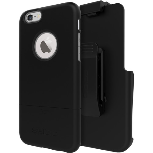 Seidio SURFACE Case for iPhone 6/6s with Holster (Black/Black)