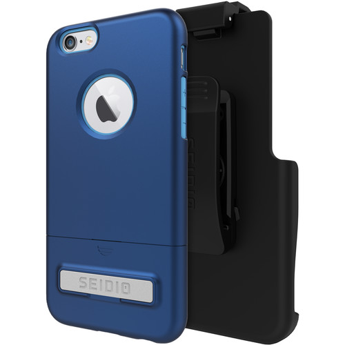 Seidio SURFACE Case with Kickstand for iPhone 6/6s and Holster (Royal Blue/Gray)