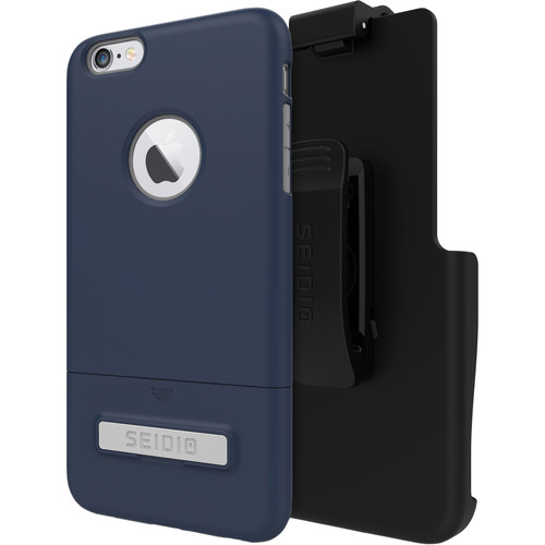 Seidio SURFACE Case with Kickstand and Holster for iPhone 6 Plus/6s Plus (Midnight Blue/Gray)