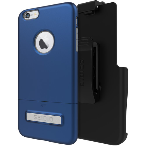 Seidio SURFACE Case with Kickstand and Holster for iPhone 6 Plus/6s Plus (Royal Blue/Gray)