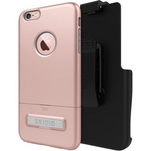 Seidio SURFACE Case with Kickstand and Holster for iPhone 6 Plus/6s Plus (Rose Gold)