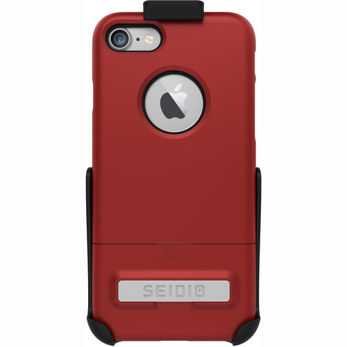Seidio SURFACE Case for iPhone 7 with Holster (Red/Black)