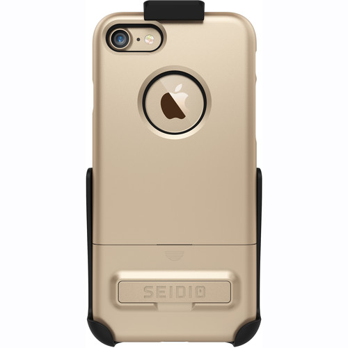 Seidio SURFACE Case for iPhone 7 with Holster (Gold/Black)