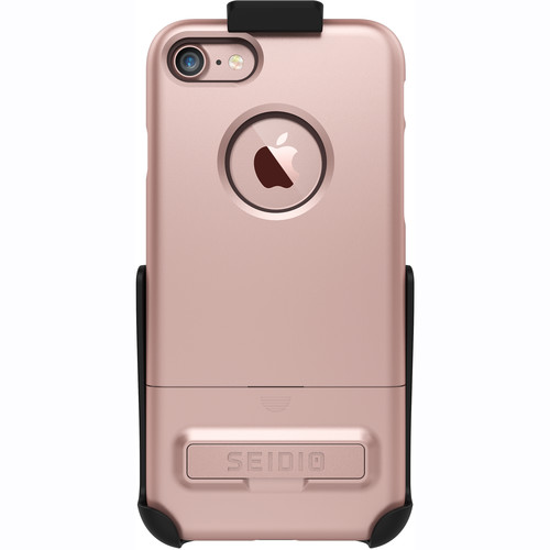 Seidio SURFACE Case for iPhone 7 with Holster (Gold/Brown)