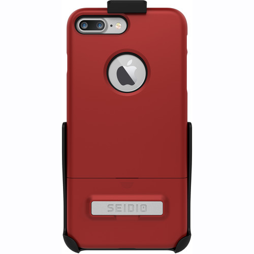 Seidio SURFACE Case for iPhone 7 Plus with Holster (Red/Black)