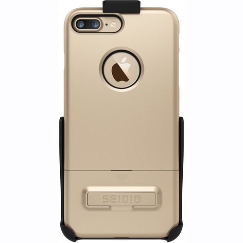 Seidio SURFACE Case for iPhone 7 Plus with Holster (Gold/Black)