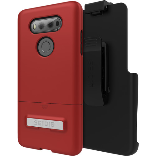 Seidio SURFACE Case with Kickstand and Holster for LG V20 (Dark Red/Black)
