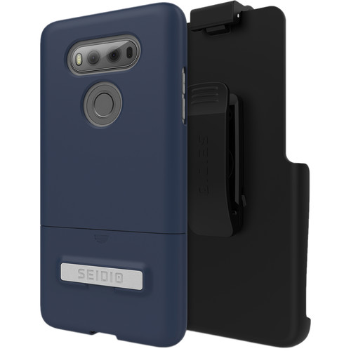 Seidio SURFACE Case with Kickstand for LG V20 and Holster (Midnight Blue/Gray)
