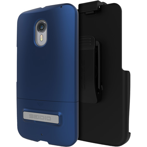 Seidio SURFACE Case with Kickstand and Holster for Motorola Moto X Pure Edition (Royal Blue)