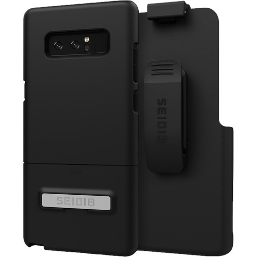 Seidio SURFACE Case with Kickstand and Holster for Galaxy Note 8 (Black/Black)