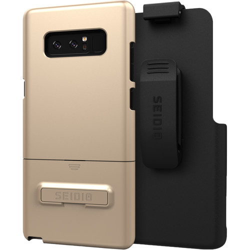 Seidio SURFACE Case with Kickstand and Holster for Galaxy Note 8 (Gold/Black)