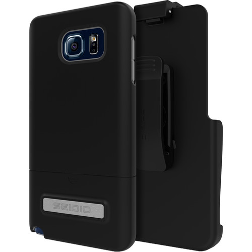 Seidio SURFACE Case with Kickstand and Holster for Galaxy Note 5 (Black)