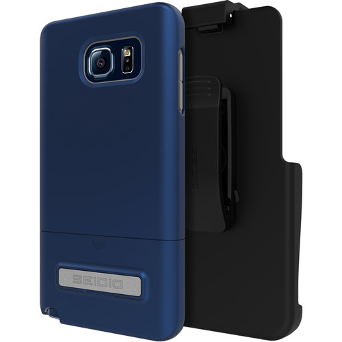 Seidio SURFACE Case with Kickstand for Galaxy Note 5 and Holster (Royal Blue)