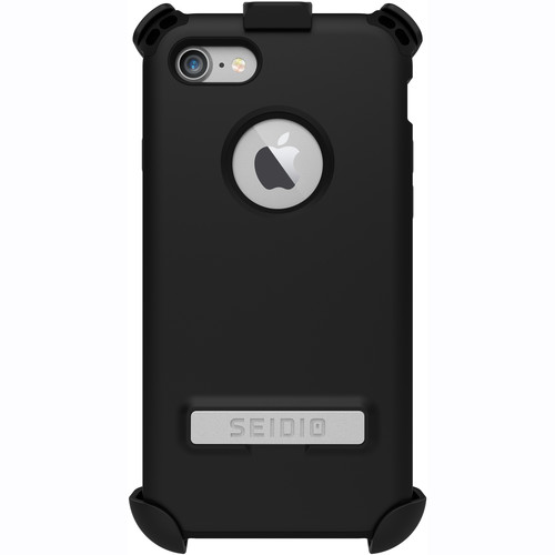 Seidio Dilex Case with Kickstand for iPhone 7 and Holster (Black/Black)