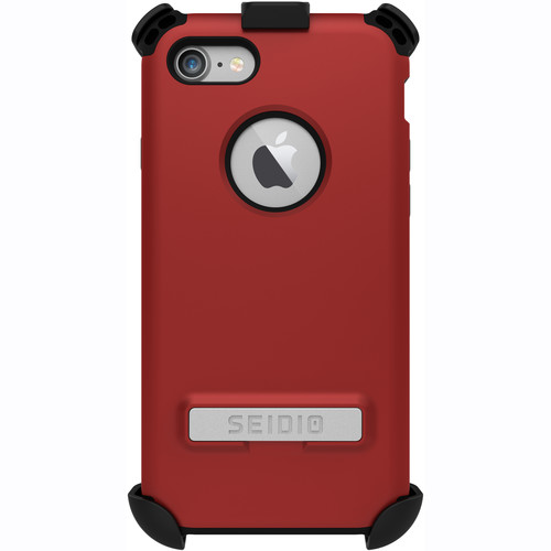 Seidio Dilex Case with Kickstand for iPhone 7 and Holster (Red/Black)