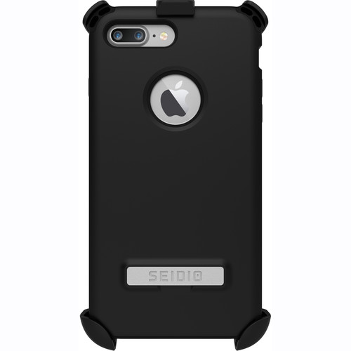 Seidio Dilex Case with Kickstand for iPhone 7 Plus and Holster (Black/Black)